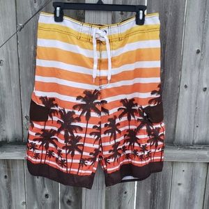 Ombre Tropical Swimsuit Board Shorts by Hang Ten